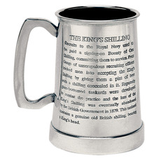 King's Shilling Tankard - with free engraving