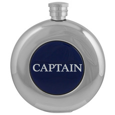 Round Hip Flask, Captain