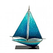 Metal Art Yacht with Stand