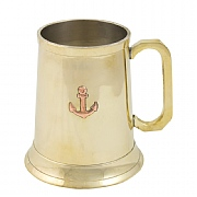 Brass Tankard with Anchor Detailing