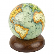 Globe on Wooden Pedestal