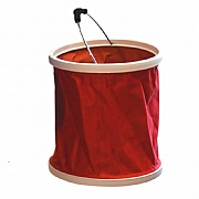 Red Stowaway Folding Bucket