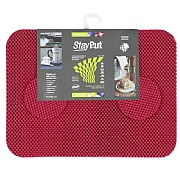 Set of 6 StayPut Tablemats and Coasters in Red