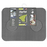 Set of 6 StayPut Tablemats and Coasters in Grey