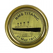 Brass RMS Titanic Tribute Compass