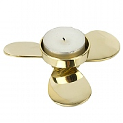 Brass Propeller-shaped Tealight Holder