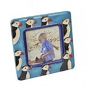 Photo Frame with Puffins