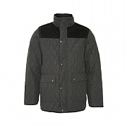 Fleece-lined Diamond Quilt Jacket,Black