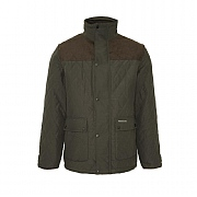 Fleece-lined Diamond Quilt Jacket, Olive