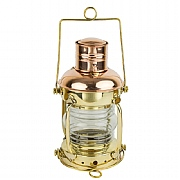 Brass & Copper Anchor Oil Lamp