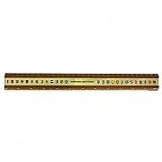 Code Flag Brass & Teak Ruler 30cm
