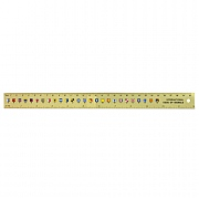 Code flag brass ruler 30cm