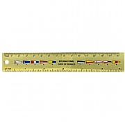 Pennants brass ruler 15cm