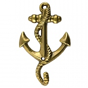 4.5in. Anchor-style Brass Hook