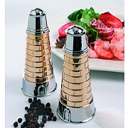 Lighthouse-shaped Salt & Pepper Pot Set