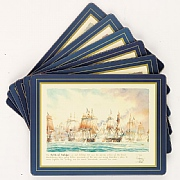 Heat-resistant Nelson's Navy Tablemats