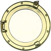 Round 8in. Brass Porthole Mirror