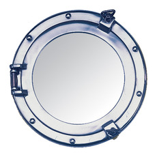 "Round Porthole Mirror - 11"" chrome"