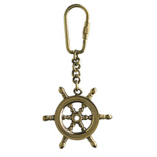 Ship's Wheel Keyring