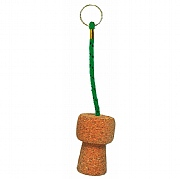 Floating Champagne Cork Keyring