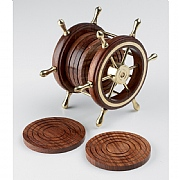 Ship's Wheel Coaster Set