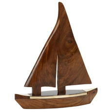 Wooden 9in. Sailboat