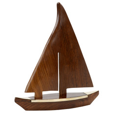 Wooden 13in. Sailboat