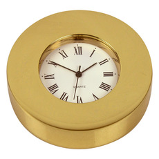 Personalised Clock Paperweight in Brass