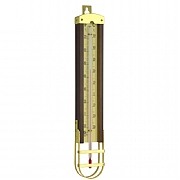 Hardwood & Brass Cased Thermometer