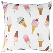 Ice Cream Cones & Lollipops Cushion