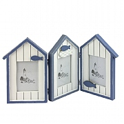 Beach Huts Triple Photo Frame