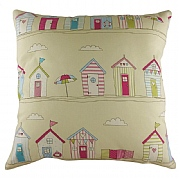 Cushion with Beach Huts