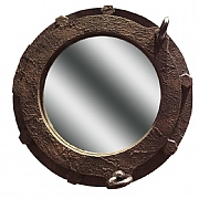 Rust-effect Porthole Mirror