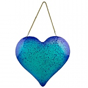 Glass Heart Hanging Decor