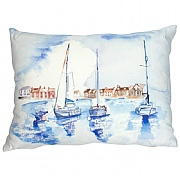 Coastal Cushion with Yachts