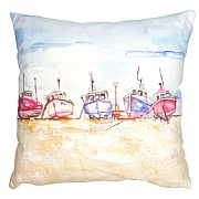 Coastal Cushion with Trawlers