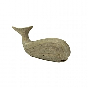Wooden Whale, 9in.
