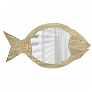 Fish-shaped Wooden-framed Mirror