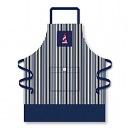 Navy Stripe Apron with Lighthouse