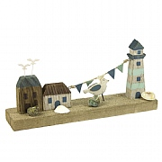 Wooden Lighthouse and Houses