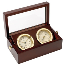 Boxed Clock and Barometer Set