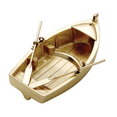 Rowing Boat Tealight Holders in Brass or Chrome Plated