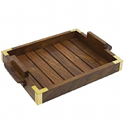 Naval-style Tray with Brass Corners