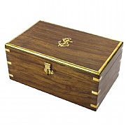 Naval-style Box with Brass Edges