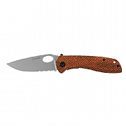 Coast Wooden Handle Double Lock Knife