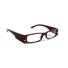 Illuminated Reading Glasses, RED, +2.00