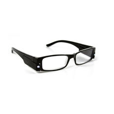 Illuminated Reading Glasses, BLACK, +2.00