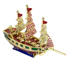 Galleon Jewelled Box