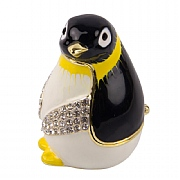 Jewelled Penguin Chick Trinket Box