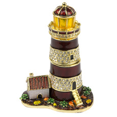 Jewelled Lighthouse Trinket Box